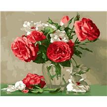 "Картина для рисования по номерам ""Букет в прозрачной вазе"" арт. GX 22226 m"