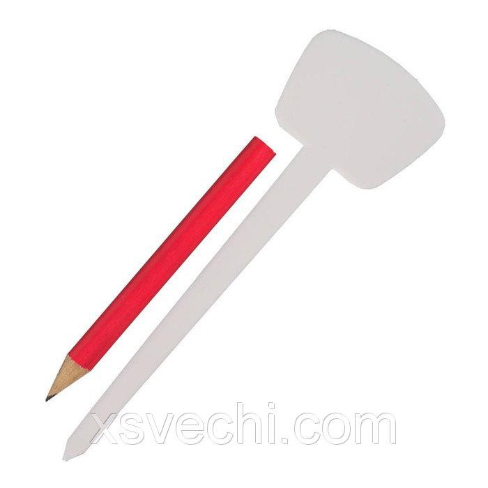 """Набор меток-ориентиров GRINDA для засеянных грядок: 25 ярлыков (тип - """"Т"""") + карандаш, 125 мм   3329"""