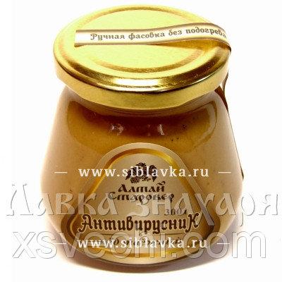Медовая композиция «Антивирусник» противопростудная с черной смородиной, клюквой и солодкой