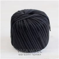 Пряжа Milleluci Color цвет Черный 29, хлопок с вискозой,  137м/50гр Miss Tricot Filati