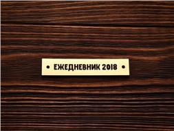 Шильдик Ежедневник 2018