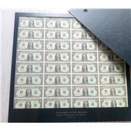 Лист 1 долларовых банкнот 32$