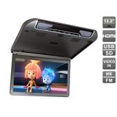 """Автомобильный потолочный монитор 13,3"""" со встроенным FULL HD медиаплеером AVIS Electronics AVS440MPP (тёмно-серый, бежевый)"""