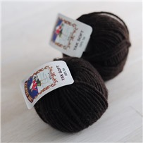 Пряжа Yak Soft, коричневый натуральный, 38м в 25г