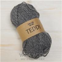Пряжа Teddi, Серый 10435, 110м в 50г, альпака, Перу