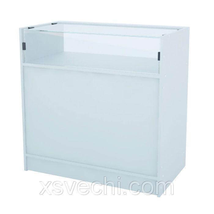 Прилавок демонстрационный эконом, стекло - 350мм, 900*445*900мм, белый