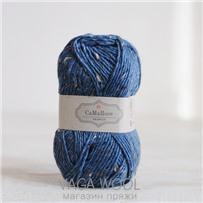Пряжа Lama Tweed Синий 6456, 100м/50г, CaMaRose, Bla