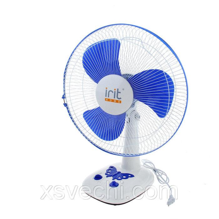 Вентилятор Irit IRV-026, 40 вт, настольный, 3 скорости, таймер, белый