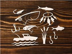 Набор чипбордов Рыбалка