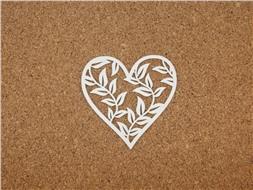 Сердечко с листочками