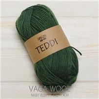 Пряжа Teddi, Зеленый 11350, 110м в 50г, альпака, Перу