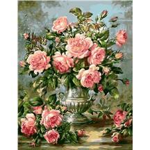 """Картина для рисования по номерам """"Античная ваза с розами"""" арт. GX 9447"""