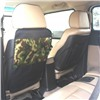 Защита для спинки сиденья + Органайзер для автомобиля, 1 карман под замком, Камуфляж лес