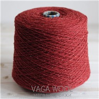 Пряжа City 002 Вишнёвое варенье 191м/50гр., шерсть ягнёнка, шёлк, Vaga Wool