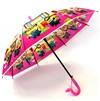Зонт детский полуавтомат розовый Миньоны