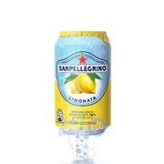 Упаковка газированного сокосодержащего напитка SanPellegrino Limonata (лимон) 0,33 в банке - 24 шт.