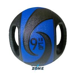 Мяч тренировочный (медицинбол) с хватами, 9 кг