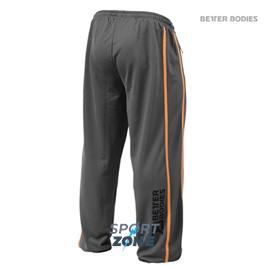 Спортивные брюки мужские Better bodies Classic mesh p, серый с оранжевым