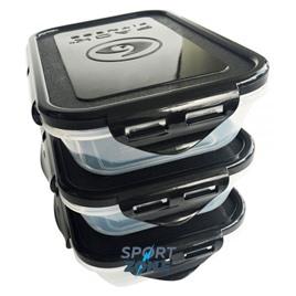 SIX PACK FITNESS Контейнер с фиксаторами 20oz/591мл черный для всех сумок