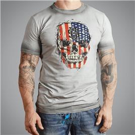 Мужская футболка US AXEL GREY UNCLE SAM