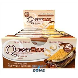 Батончик протеиновый QuestBar S'mores (12 шт)