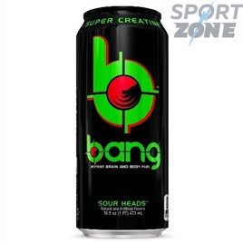 Напиток (VPX) BANG 473мл Sour Heads (12 шт.)  Кислое яблоко.