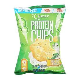 Протеиновые чипсы сметана/лук 32 г США Quest Chips 2.0 Sour Cream & Onion (8 пач)