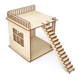 """ХэппиДом Конструктор ХэппиДом """"Пристройка и лестница для домика"""" из дерева"""