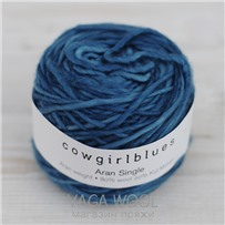 Пряжа Aran Single solid Цесарка, 120м/100г., Cowgirlblues, Guinea Fowl