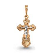 Крест золотой гравированный № 12629, золото 585°