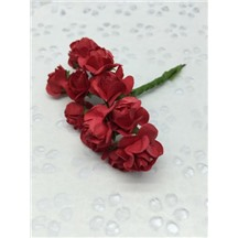 Букетик роз бумажный цвет: красный (red). Размер цветка 15мм