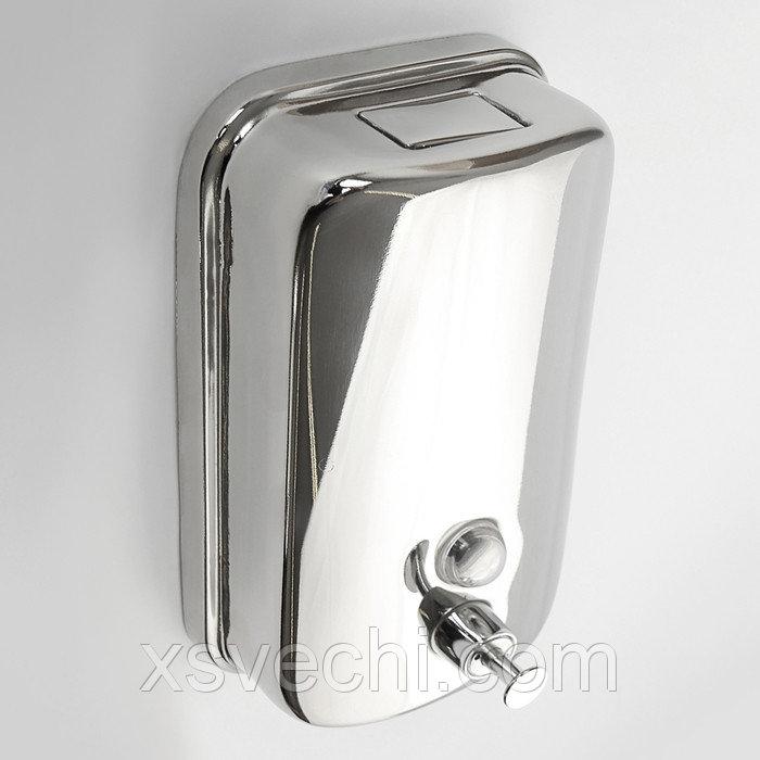 Диспенсер жидкого мыла механический 1000 мл, нержавеющая сталь