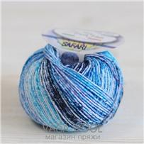 Пряжа Safari цвет сине-голубой 05, хлопок,  118м/50гр Miss Tricot Filati