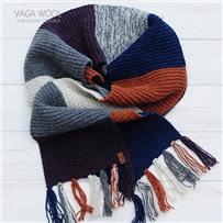 Набор для шарфа Vana Tallinn фиолетово-рыжий из пряжи Pastorale