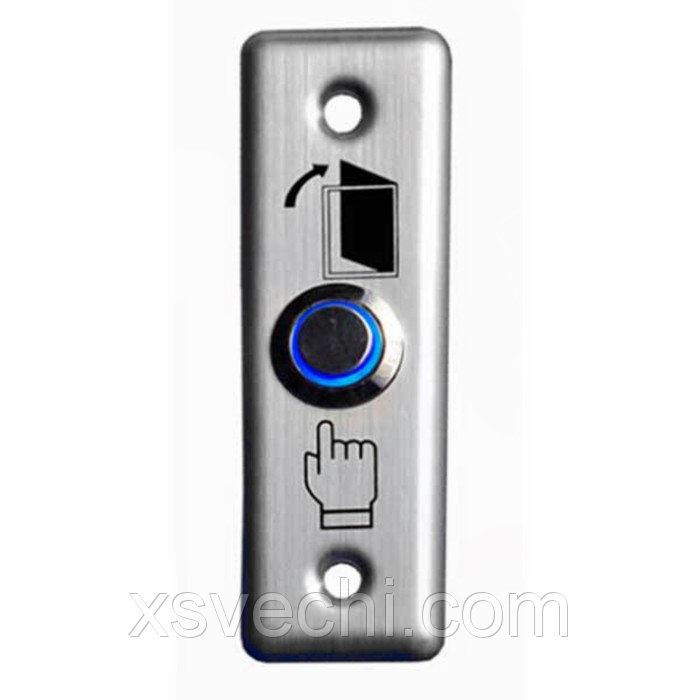 Кнопка выход Tantos TDE-02 Light, металлическая, 12-24 В, с подсветкой