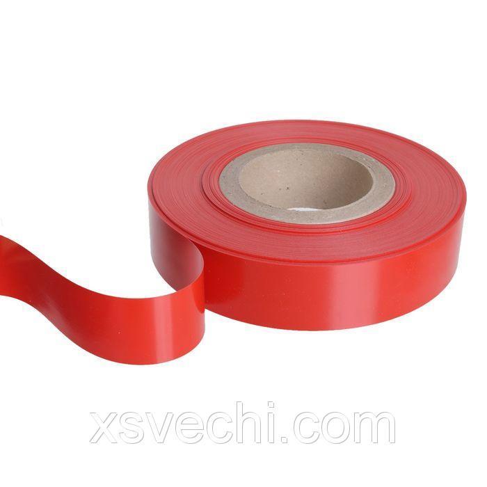 Вставка в ценникодержатель, пластиковая, цвет красный, 100 м