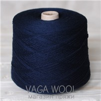Пряжа Coast Темно-синий 047, 350м в 50г, Knoll Yarns, Dark navy