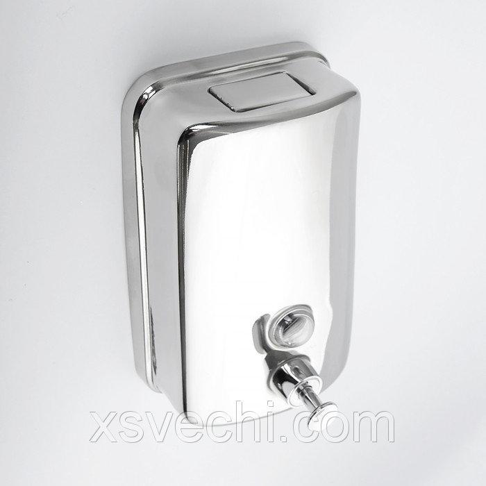 Диспенсер жидкого мыла механический 800 мл, нержавеющая сталь