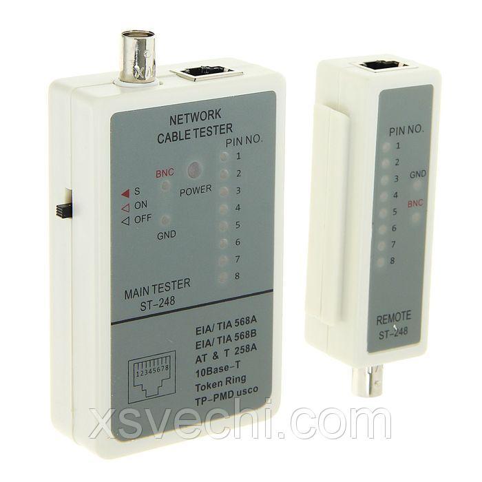 Тестер для проверки кабелей LAN Cablexpert NCT-1, для RJ-45, RG-58