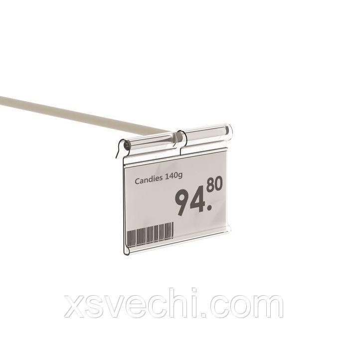 Ценникодержатель на крючок откидной 5*3,9, цвет прозрачный