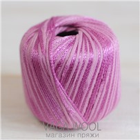 Пряжа Milleluci Color цвет Розовый 22, хлопок с вискозой,  137м/50гр Miss Tricot Filati