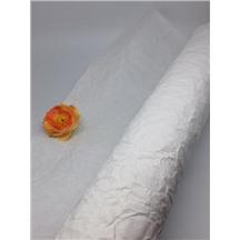 Бумага жатая, однотонная, Ширина: 70-75см, намотка: 5м (белая, RP/20)