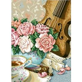"""Картина стразами (алмазная вышивка, набор) """"Скрипка"""" 40х55 см"""