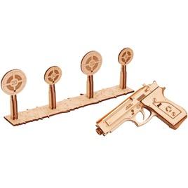 Wood Trick 3D-пазл из дерева Wood Trick Пистолет-резинкострел с мишенями