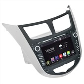 Штатная магнитола Incar AHR-2487 для Hyundai Solaris  Android 4.4.4/1024*600,wi-fi
