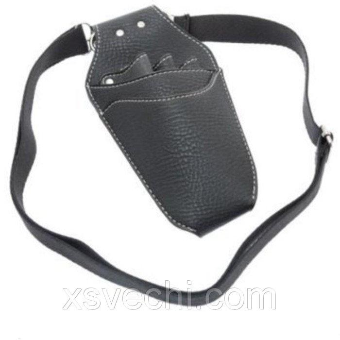 Сумка для ножниц, кож зам, цвет чёрный (h10504)