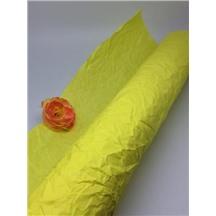 Бумага жатая, однотонная, Ширина: 70-75см, намотка: 5м (желтая, RP/01)