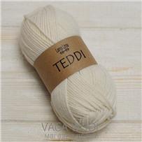 Пряжа Teddi, Белый 10100, 110м в 50г, альпака, Перу