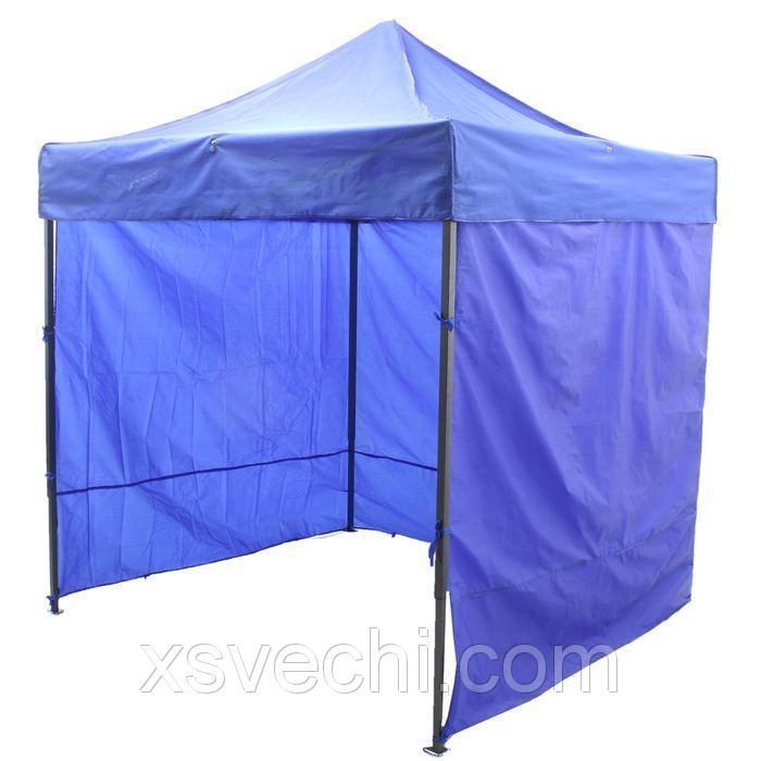 Палатка торговая 200*200 см, каркас складной черный, с молнией, цвет МИКС (синий,красный)