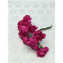 Букетик роз бумажный цвет: фуксия (fuchsia). Размер цветка 15мм